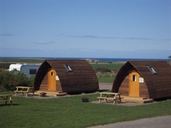 Wigwams like being by the seaside at Springhill Farm