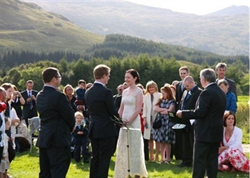 Wedding at Strathfillan Wigwams
