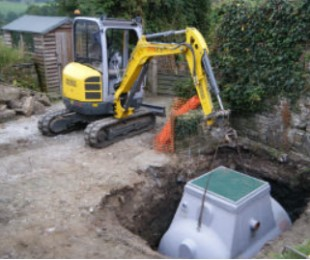 Waster water treatment digger