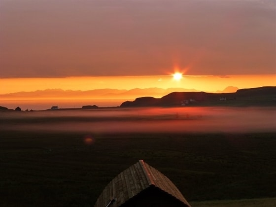 A glorious sunrise over Shulista Croft Wigwams