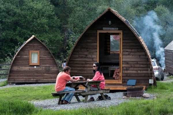 wigwams by the river