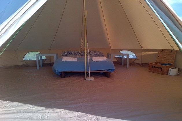 Inside of the Bell Tent