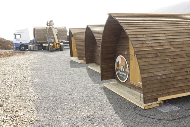 Wigwams being delivered