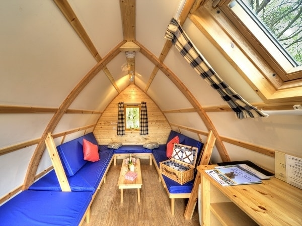 Inside a Big Chief Wigwam at Loch Tay Wigwams