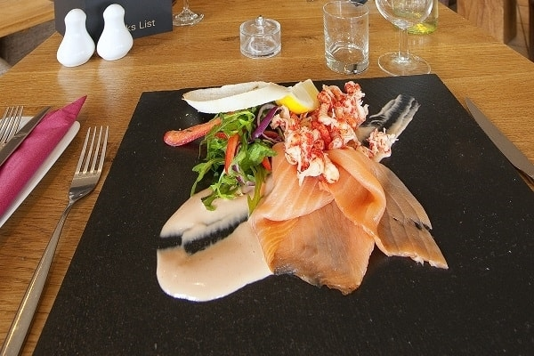 Great food at Loch Tay Wigwams