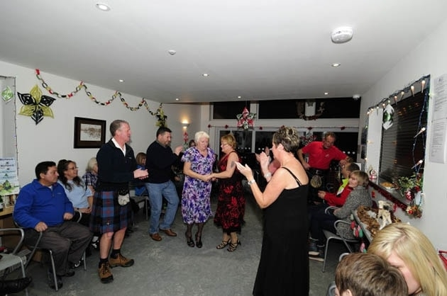 New Year Ceildih at Loch Ness Wigwams