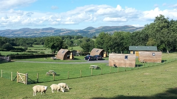 Stunning views at Clwydian Wigwams