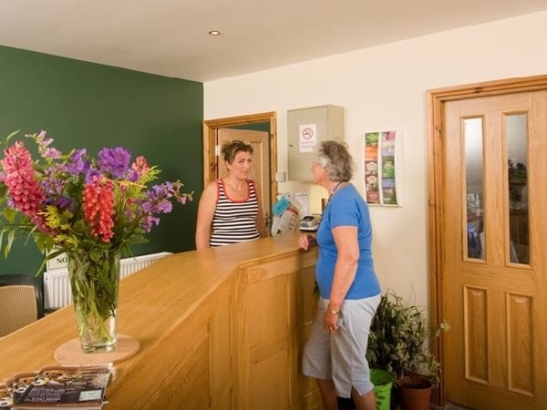 You will always arrive to a friendly face at Grouse Hill Wigwams reception