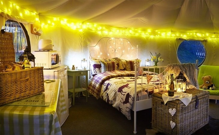 Humble Bee Farm Bell Tent Internal Shot
