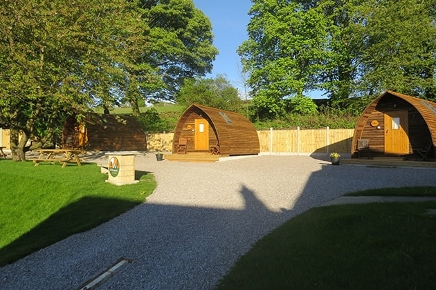 Clarion Lodge Wigwams in the sunshine