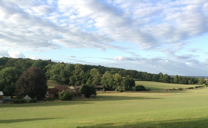 Views across Chawton Park Farm Wigwams