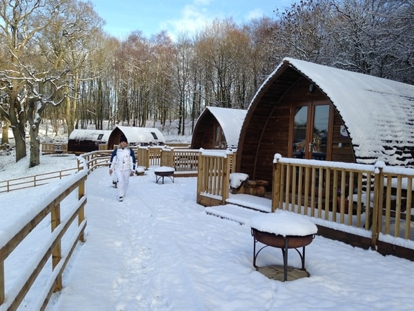 Warm and cosy wigwams in the winter