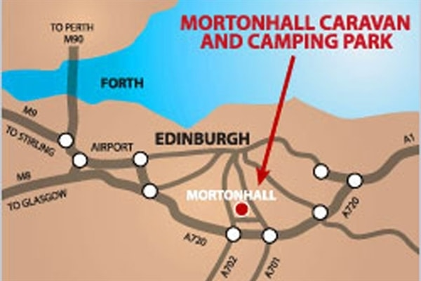 Mortonhall Wigwams Location Map