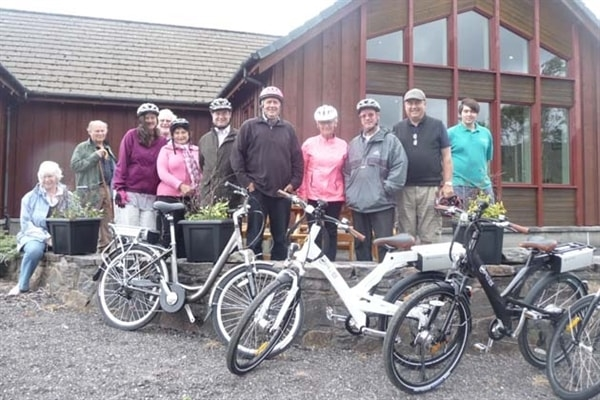 Stonefield Farm are a charging point for electric bicycles