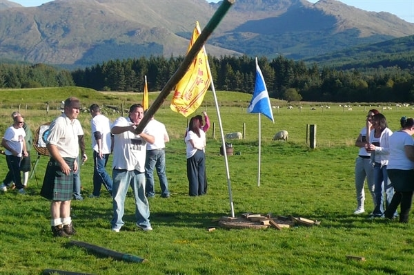 Highland Games organised on site