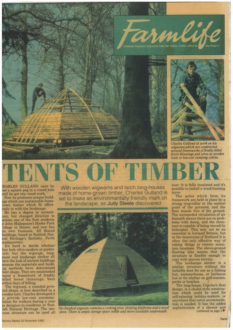 Tents of timber, the beginning of it all