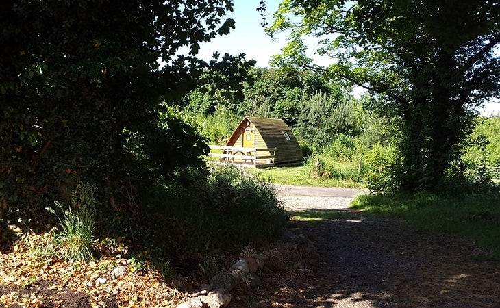Wigwam in the shade, The Loft Wigwams and Activity Centre