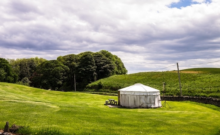 Yurt at Pot A Doodle Do Northumbrian glamping