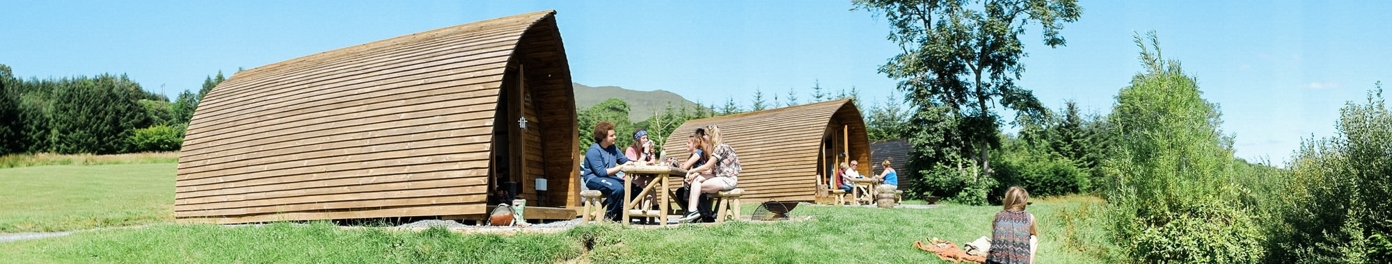 Camping made comfy with heated wooden Wigwam Cabins