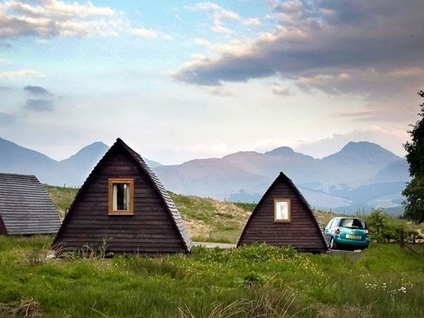 Wigwams in the Sunset