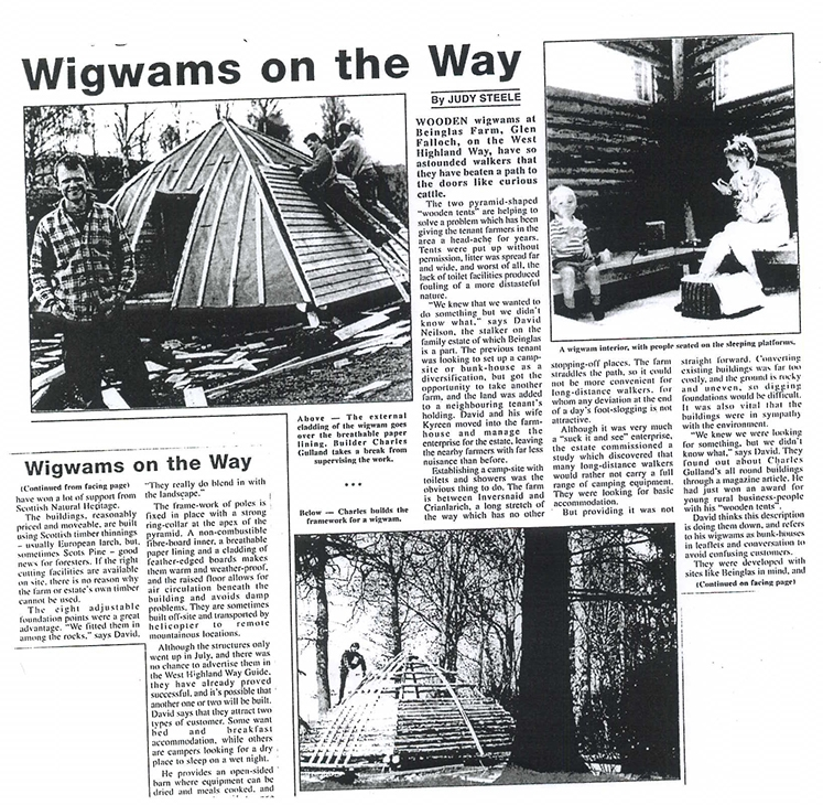 The first ever Wigwam!