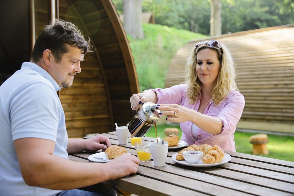 Farm diversification has led to James and Katharine relaxing at Brampton Wigwams
