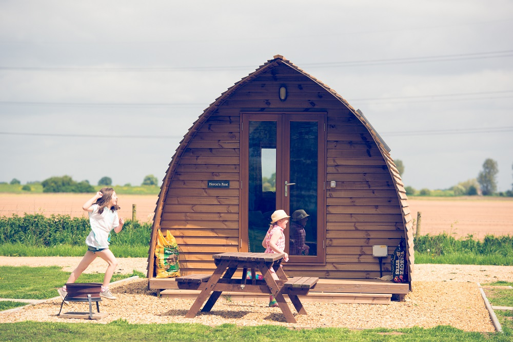 Wigwams are brilliant for glamping in Wales